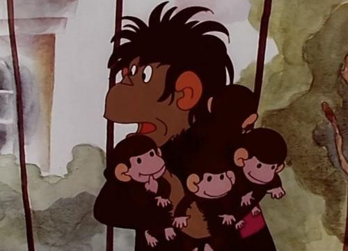 обезьянка с детьми из мультика картинки